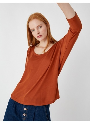 Koton Basic Uzun Kollu T-Shirt Kırmızı